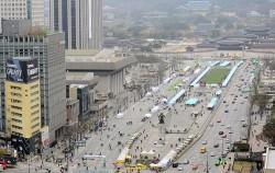 국제로타리 세계대회 `3K 평화의 걷기` 대회가 열릴 광화문광장 전경