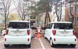 성북구 삼선현대힐스테이트에 배치된 나눔카 전기차량