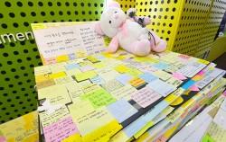 강남역 인근 노래방 화장실 살인사건 피해자 추모공간이 마련된 시민청ⓒnews1