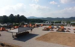 철원 `평화마을 서울캠핑장` 전경