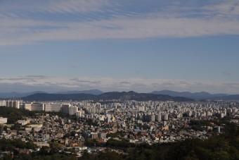 부암동에서 바라본 서울의 모습