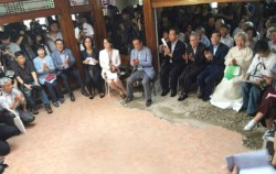백남준 기념관 발대식에는 서울시장, 고 백남준의 유가족 등 문화계 인사 80명이 참석했다