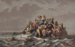홍수로 곤경에 빠진 사람들을 묘사한 Raden_Saleh의 그림 ⓒWikipedia