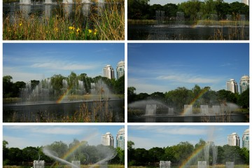 보라매공원 분수의 춤바람