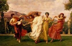 그리스 신화 시간과 계절의 여신 호라이. 이 그림에서는 인간 사회의 질서를 관장하는 셋과 계절의 흐름을 담당하는 셋으로 묘사됐다.ⓒWikipedia