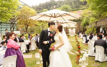 서울연구원 뒤뜰 야외결혼식