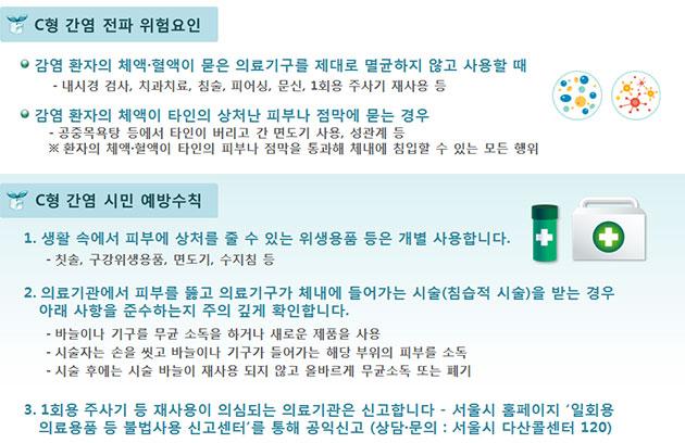 C형 간염 예방수칙