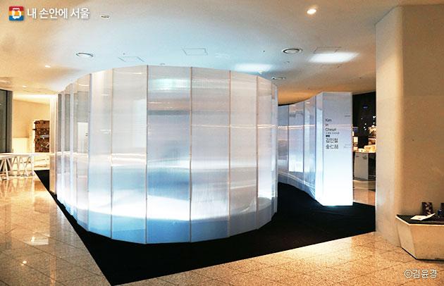 DDP 살림터 1층에서 전시 중인 `올해의 건축가(2015:김인철)`전 ⓒ김윤경