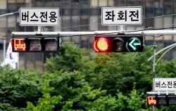 버스 삼색등이 설치된 신호등 ⓒnews1