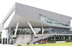 한글창제원리인 천지인을 본떠 세운 국립한글박물관 건축물 ©권영임
