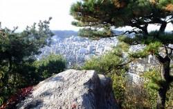 백련산 정상 은평정 아래 자리한 매바위 ⓒ김종성