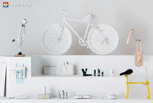 `두 바퀴 희망자전거` 팀의 업사이클링 작품