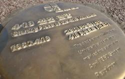 `4.18 선언 현장` 인권현장 표지석 설치 모습
