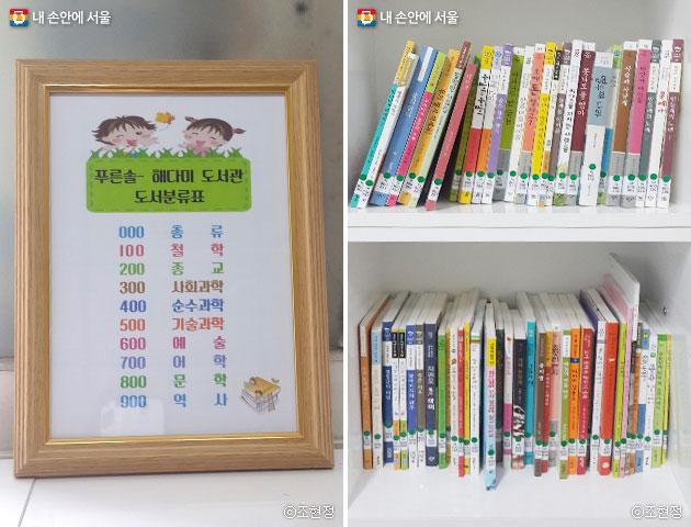 전문 사서의 재능 기부로 전문 도서관처럼 체계적으로 분류된 도서들 ⓒ조현정