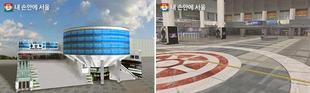 지하철 환승역 및 지하상가 3차원 실내지도(용산역 예시)