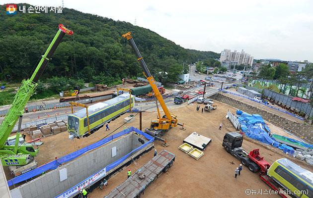 우이동 경전철 차량기지 모습ⓒ뉴시스