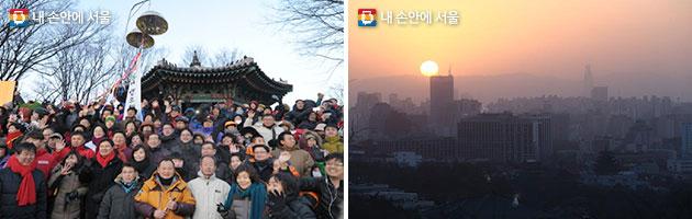 중구 남산 팔각정(좌), 종로구 인왕산 청운공원(우)