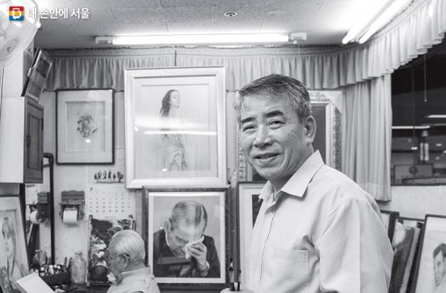후암초상화연구소 김진삼 화백