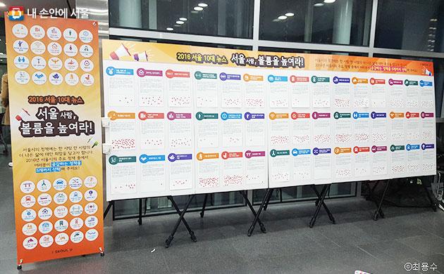2016년도 서울시 10대 뉴스 선정 투표판 ⓒ 최용수