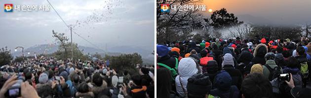 광진구 아차산(좌), 노원구 불암산 헬기장(우)