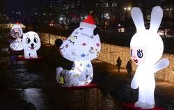 청계천에서 열리는 `서울 크리스마스 페스티벌`ⓒnews1