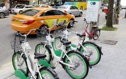 서울시민들에게 호응을 얻고 있는 공공자전거 따릉이 ⓒ강서희