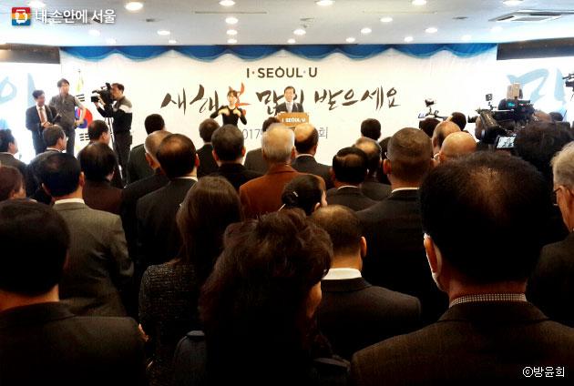 희망이라는 화두로 박원순 서울시장이 새해 소감을 밝히고 있다. ⓒ방윤희