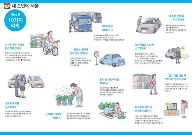 미세먼지 줄이기 시민실천 10가지 약속(☞ 이미지 클릭 크게보기)