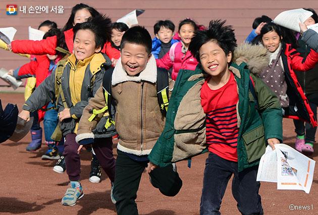겨울방학을 맞은 초등학생들 ⓒnews1