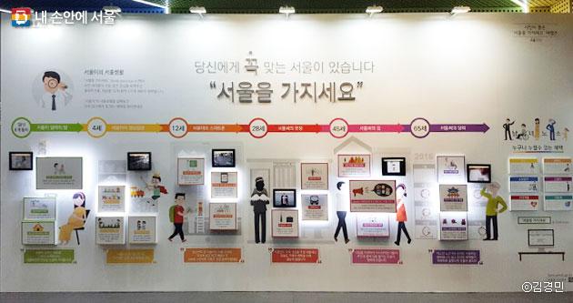 시민청 `서울을 가지세요` 체험존. 따릉이도 소개돼 있다. ⓒ김경민