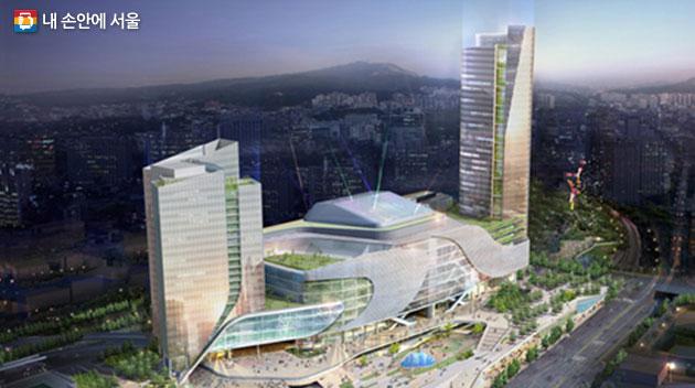 서울역 북부 역세권 개발 조감도