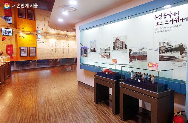 포스트타워 지하1층에 자리잡은 우표박물관