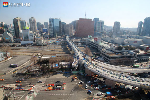 서울로 공사현장