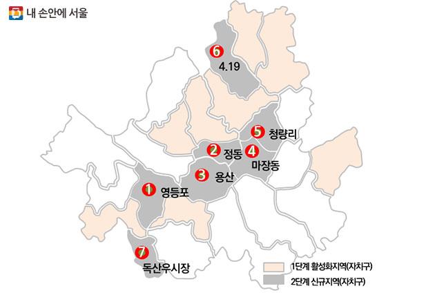 중심지 재생지역 7개소