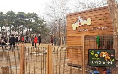 보라매공원에 마련된 반려견 놀이터 ⓒ최은주