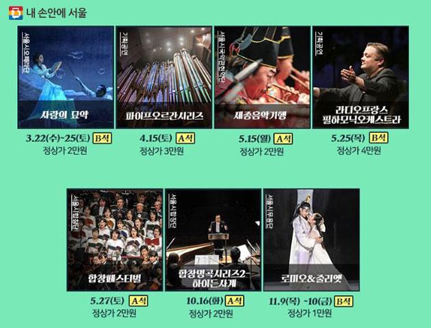 2017 대극장 올패스 관람 가능 공연