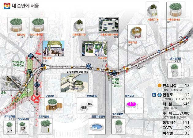 서울로7017 편의시설 18개소