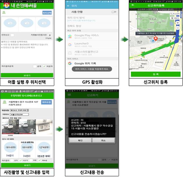 서울스마트불편신고앱 통한 불법 주·정차 차량 신고 방법