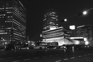 [미션]흑백사진속 숭례문의 야경