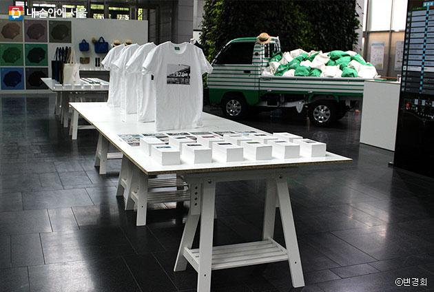 `서울로7017 기념품 전시회` 모습 ⓒ변경희