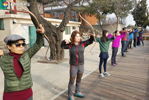 남산공원 활쏘기