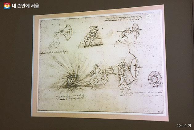 전시는 레오나르도 다빈치가 서로 다른 장르의 융합을 실현해가는 과정에 주목하고 있다. ⓒ김수정