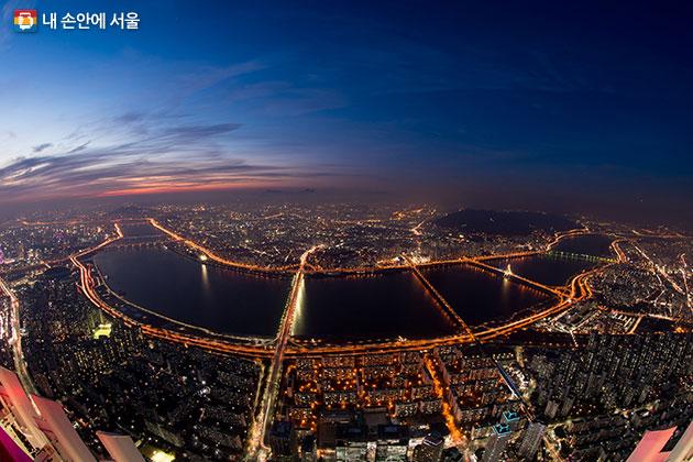 롯데월드타워에서 바라본 서울 전경