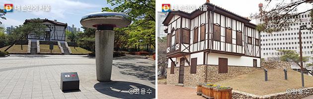 서울시와 터키수도 앙카라시의 자매결연기념 조형물 모습(좌) 터키 전통포도원주택 모습(우) ⓒ최용수