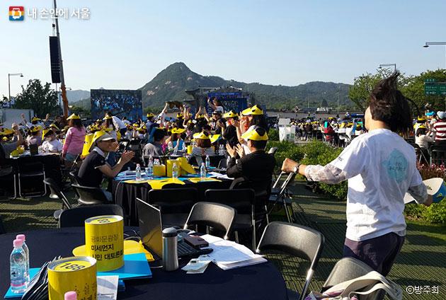 서울시민 모두가 어우러진 흥겨운 토론의 장이 되었다. ⓒ방주희