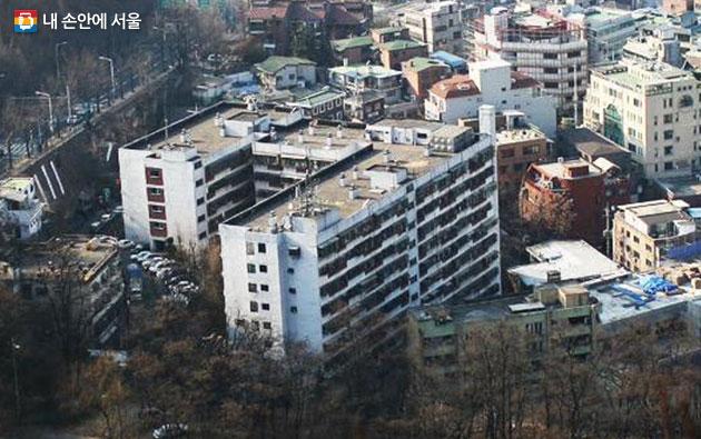 서울 마지막 시민아파트인 `회현제2시민아파트` 모습