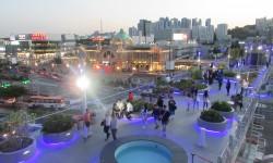 서울로 7017 어스름 저녁 풍경