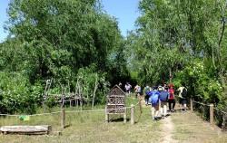고덕수변생태공원으로 생태체험교육을 나온 학생들 ⓒ김종성