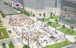 `영동대로 복합환승센터` 지상부 광장 조감도