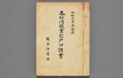 옛 서울 삶을 기록해 놓은 자료 `각정동직업별호구조서`
